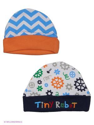 Шапочка, 2 шт. Hudson Baby. Цвет: темно-синий, голубой, оранжевый