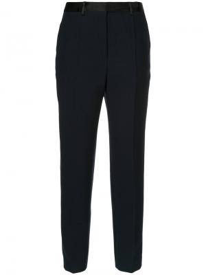 Укороченные строгие брюки Cyclas. Цвет: синий