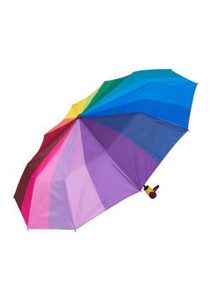 Зонт складной NUAGES. Цвет: красный, желтый, зеленый