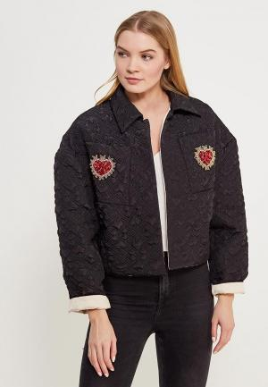 Куртка утепленная Sister Jane. Цвет: черный