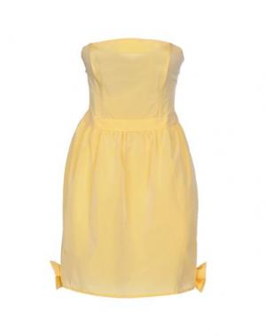 Короткое платье PINK BOW. Цвет: желтый