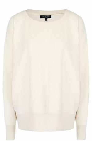 Пуловер свободного кроя с круглым вырезом Rag&Bone. Цвет: бежевый