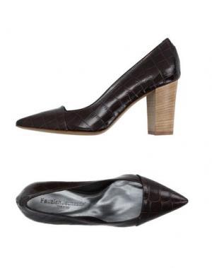 Туфли FAUZIAN JEUNESSE. Цвет: темно-коричневый