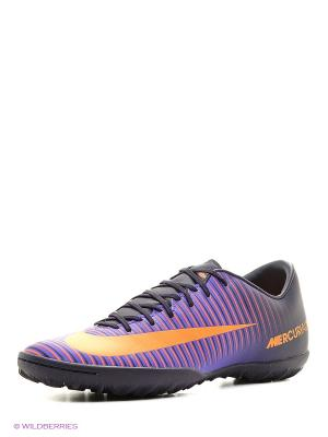 Шиповки MERCURIALX VICTORY VI TF Nike. Цвет: фиолетовый