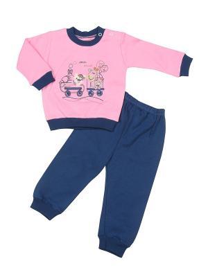 Пижама M-BABY. Цвет: розовый, синий