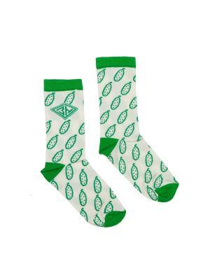 Носки ЗАПОРОЖЕЦ Огурцы. Цвет: белый, зеленый