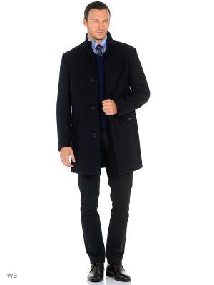 Пальто Bazioni. Цвет: темно-синий