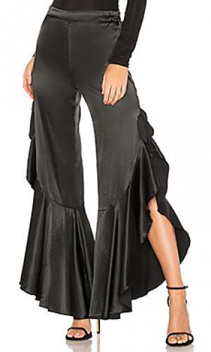 Расклешенные брюки old hollywood LIONESS. Цвет: черный