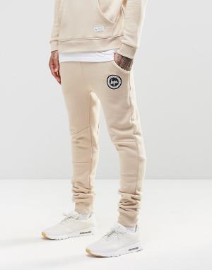 Hype Зауженные спортивные брюки с логотипом. Цвет: бежевый