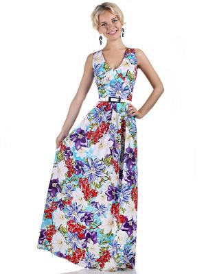 Платье OLIVEGREY. Цвет: голубой, фиолетовый, красный