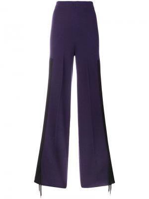 Расклешенные брюки на шнурке Circus Hotel. Цвет: розовый и фиолетовый