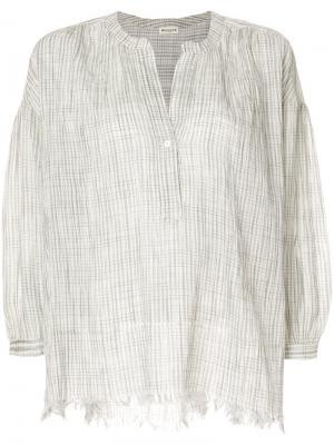 Легкая блузка с необработанным краем Masscob. Цвет: белый