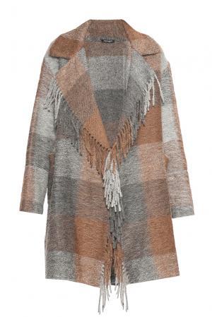 Пальто из шерсти 180493 Cristina Effe. Цвет: разноцветный