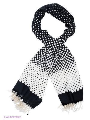 Платок Sabellino. Цвет: черный, молочный