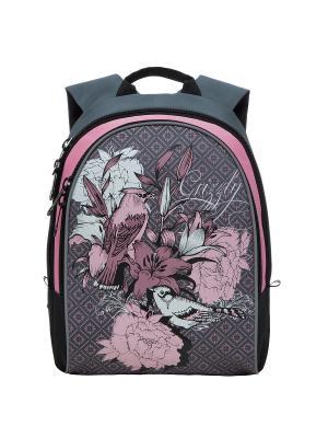 Рюкзак Grizzly. Цвет: серый, бледно-розовый
