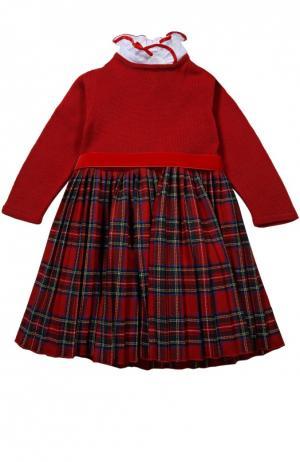 Платье с поясом Caf. Цвет: красный