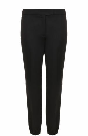 Шерстяные брюки с манжетами Dorothee Schumacher. Цвет: черный