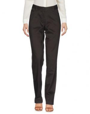 Повседневные брюки GEOX. Цвет: темно-коричневый