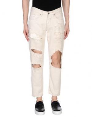 Джинсовые брюки 2W2M. Цвет: слоновая кость