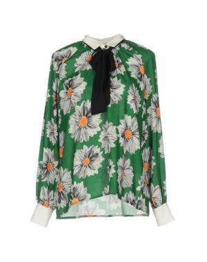 Блузка TRY ME. Цвет: изумрудно-зеленый