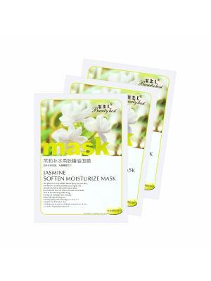 Набор тканевых масок для лица Jasmine soften moisturizing mask, 3 шт., 3*40 гр. Beauty Host. Цвет: прозрачный