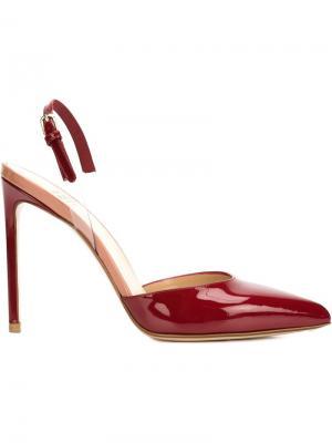 Туфли с ремешком на пятке Francesco Russo. Цвет: красный