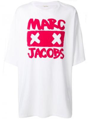 Футболка  с логотипом Marc Jacobs. Цвет: белый