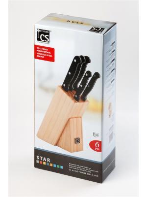 Набор ножей серии STAR, 6 предметов Koch Systeme. Цвет: черный, серебристый