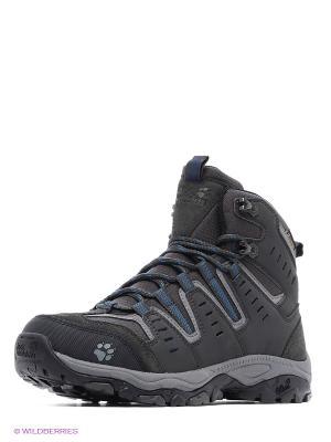 Ботинки MTN STORM TEXAPORE MID M Jack Wolfskin. Цвет: темно-серый, синий