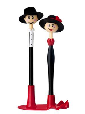 Шариковая ручка VIGAR. Цвет: черный, красный