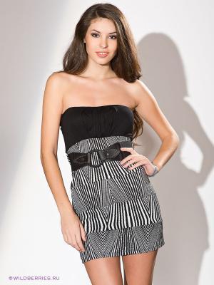 Платье Lette. Цвет: черный (осн.), белый