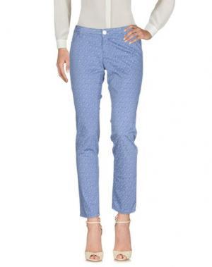 Повседневные брюки RE-HASH. Цвет: пастельно-синий