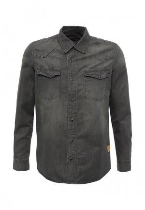 Рубашка джинсовая Biaggio. Цвет: серый