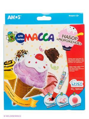 Набор для лепки AMOS. Цвет: голубой, розовый, белый