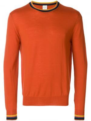 Свитер с круглым вырезом Paul Smith. Цвет: жёлтый и оранжевый
