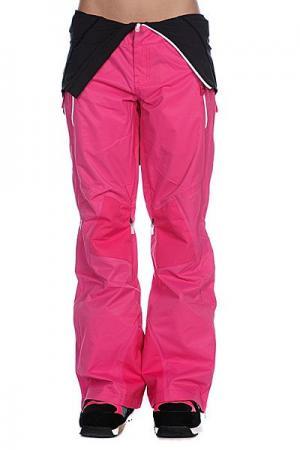 Штаны сноубордические женские  Grete Pants Fuchsia Oakley. Цвет: розовый