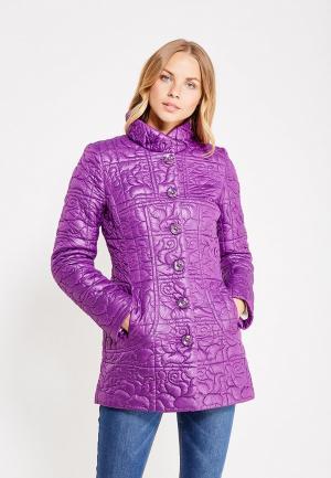 Куртка утепленная Brillare. Цвет: фиолетовый