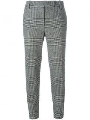 Укороченные брюки строгого кроя Brunello Cucinelli. Цвет: чёрный