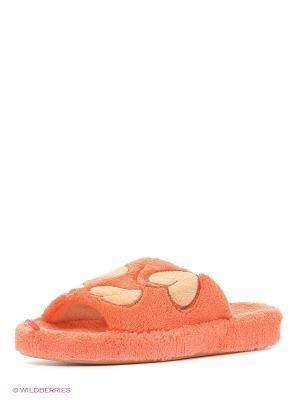 Тапочки Dream Feet. Цвет: светло-зеленый, оранжевый, розовый