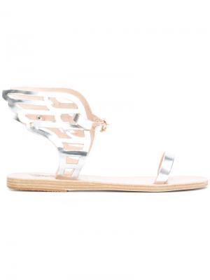 Сандалии Ikarialace Ancient Greek Sandals. Цвет: металлический