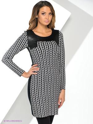 Платье Yuka. Цвет: черный, белый