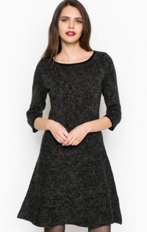 Платье из хлопка с рукавами 3/4 MORE &. Цвет: серый