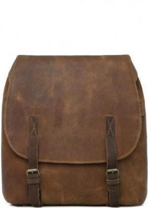 Коричневый кожаный рюкзак aunts & uncles. Цвет: коричневый