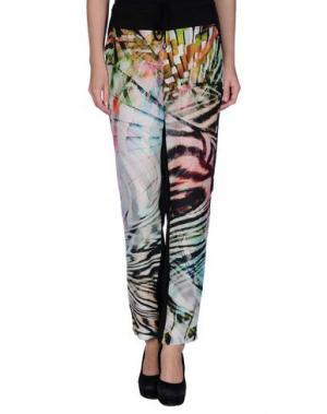 Повседневные брюки DANIELA FARGION. Цвет: зеленый