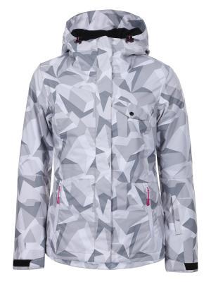 Куртка Icepeak. Цвет: темно-серый, белый