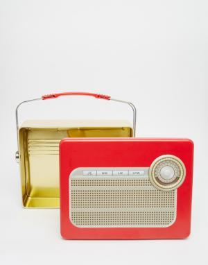 Temerity Jones Коробка для завтрака в виде старинного радиоприемника. Цвет: мульти