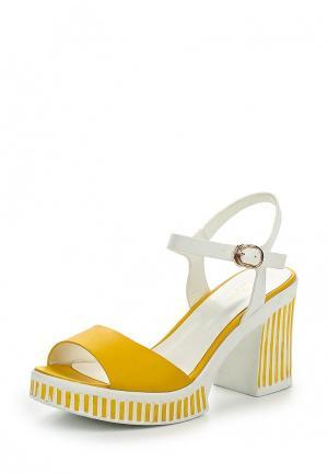 Босоножки Dino Ricci Trend. Цвет: желтый