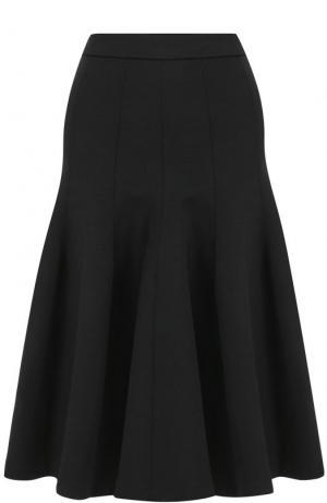 Расклешенная юбка-миди с широким поясом Carven. Цвет: черный