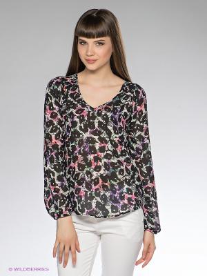 Блузка Dept. Цвет: черный, светло-серый, коралловый