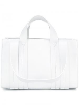 Средняя сумка-тоут Costanza Corto Moltedo. Цвет: белый